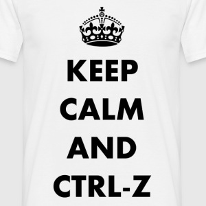Keep calm and ctrl-z - Koszulka męska