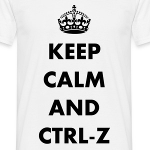 Keep calm and ctrl-z - T-shirt herr