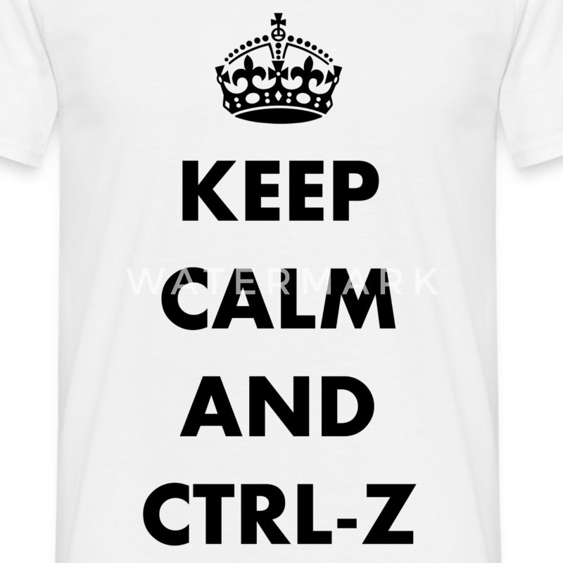 Keep calm and ctrl-z - T-shirt Homme