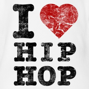i_love_hiphop02_vintage Tee shirts - Body bébé bio manches courtes