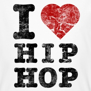i_love_hiphop02_vintage T-shirts - Mannen Bio-T-shirt