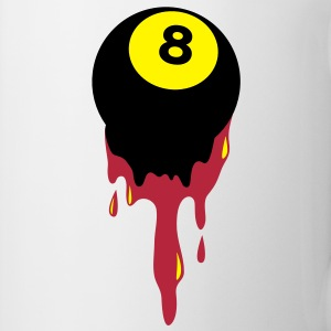 bleeding eight 8 ball from snooker or pool Bottles & Mugs - Mug