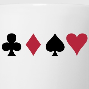 ALL FOUR poker cards card suits in a row Bottles & Mugs - Mug