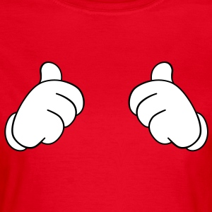 Thumbs up  duimen T-shirts - Vrouwen T-shirt