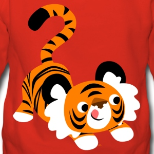 Un tigre cartoon mignon prêt à bondir! par Cheerful Madness! Sweat-shirts - Sweat-shirt à capuche Premium pour femmes