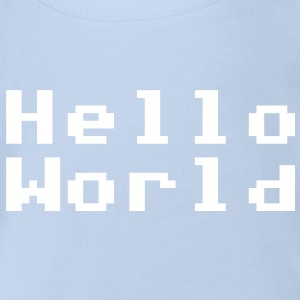 Hello World - Baby Bio-Kurzarm-Body