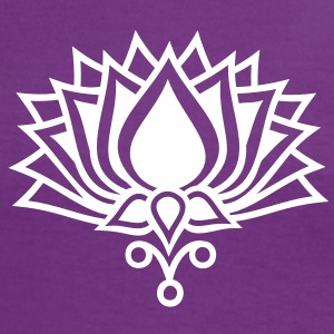 LOTUS FLOWER/ c / symbol of the enlightenment / LOTOS Tee shirts - T-shirt contraste Femme
