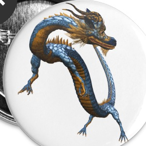 Chinese Dragon - Buttons klein 25 mm