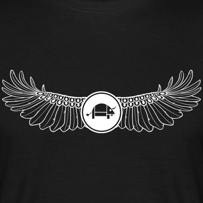 Banoop Logo with Wings - Mens T-Shirt