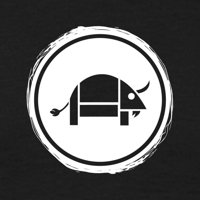 Banoop Circular Logo - Mens T-Shirt - Black