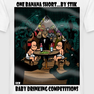 White Baby Drinking Competition Men's Tees - Men's T-Shirt