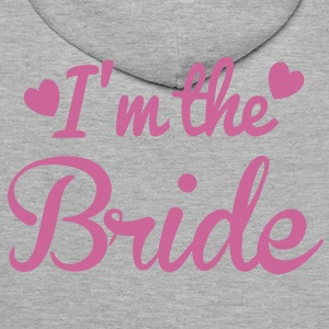 I'm the BRIDE cute little hearts Hoodies & Sweatshirts - Men's Premium Hoodie