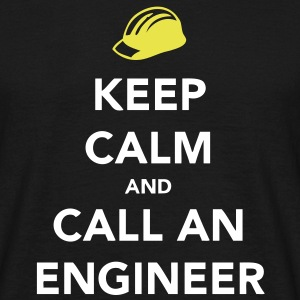 Keep Calm Engineer T-skjorter - T-skjorte for menn