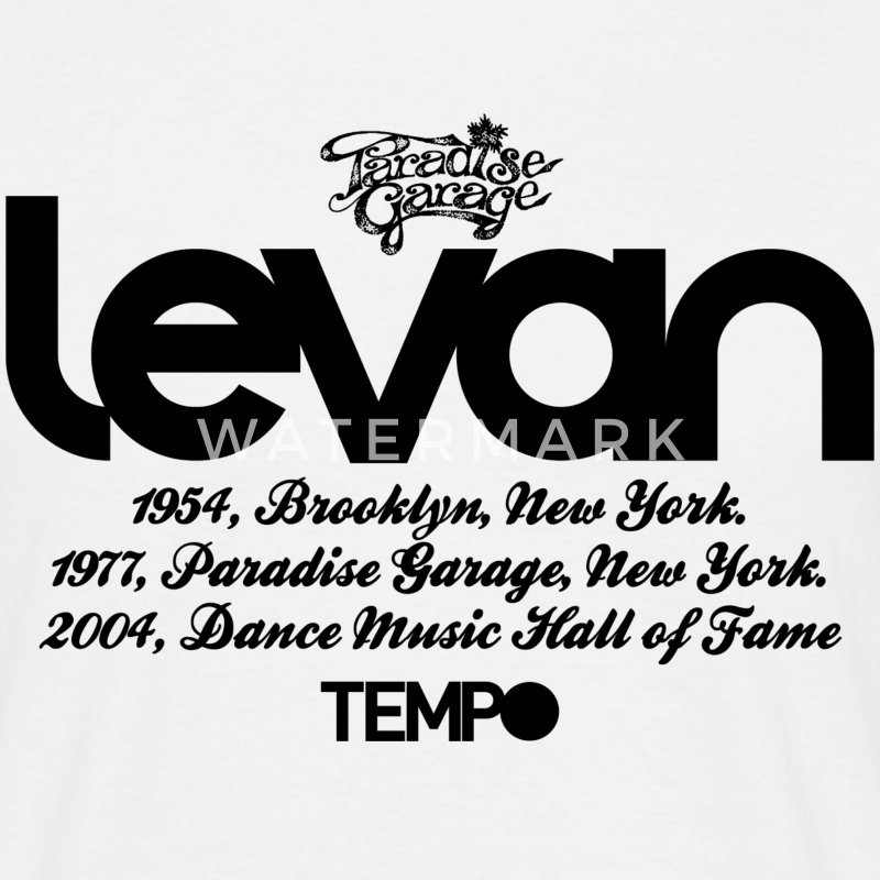 Levan Paradise Garage in Black T-Shirts - Men's T-Shirt