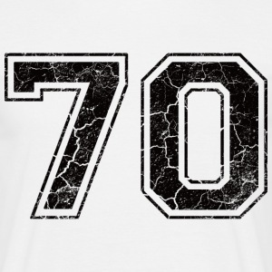 Nummer 70 in de grunge look T-shirts - Mannen T-shirt