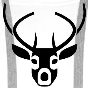 Deer Head 2 (1c)++ Gensere - Premium hettegenser for menn