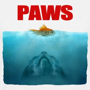 Jaws poster Paws - Mannen T-shirt