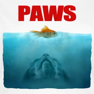 Jaws poster Paws - T-shirt dam