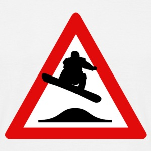 Danger Snowboard - T-skjorte for menn