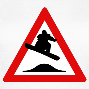 Snowboard danger sign - Dame-T-shirt