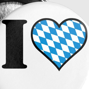 I love Bayern Buttons / Anstecker - Buttons groß 56 mm