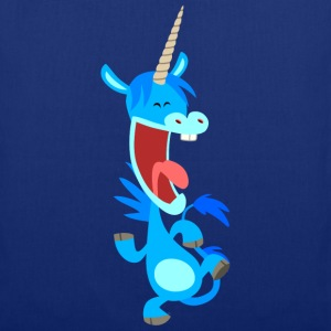 Cute Dancing Blue Cartoon Unicorn by Cheerful Madness!! Bags  - Tote Bag