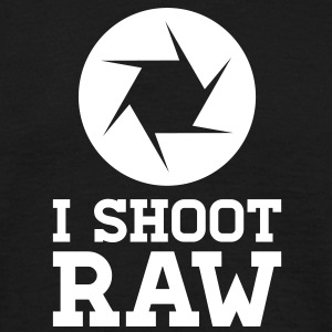 I Shoot RAW - Photography T-shirts - Mannen T-shirt