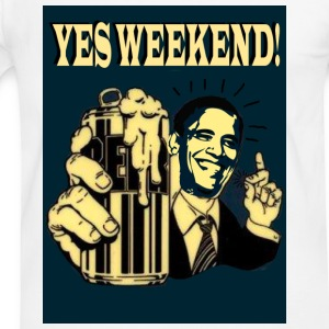 Obama's weekend beer can - Mannen contrastshirt