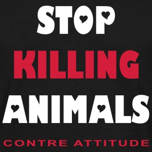 STOP KILLING ANIMALS - T-shirt Homme