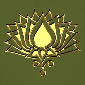 GOLDEN LOTUS/ c /symbol of divinity, enlightenment and higher consciousness/ LOTOS I T-shirts - Mannen Bio-T-shirt
