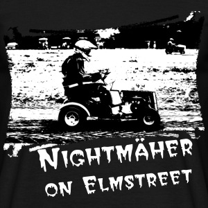 Rasenmähertraktorrennen + Dein Text (Nightmäher on Elmstreet) | unisex shirt - Männer T-Shirt