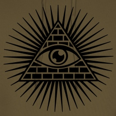 all seeing eye -  eye of god / pyramid - symbol of Omniscience & Supreme Being Hoodies & Sweatshirts