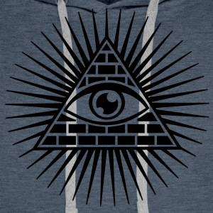 all seeing eye -  eye of god / pyramid - symbol of Omniscience & Supreme Being Sweat-shirts - Sweat-shirt à capuche Premium pour hommes