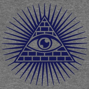all seeing eye -  eye of god / pyramid - symbol of Omniscience & Supreme Being Gensere - Damegenser med båthals fra Bella