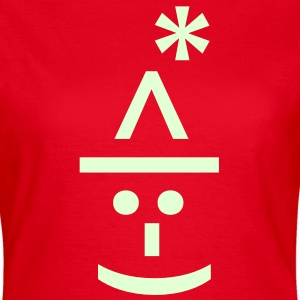 Santa Text Emoticon T-Shirts - Women's T-Shirt