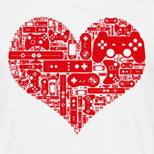 Gamer heart - Mannen T-shirt