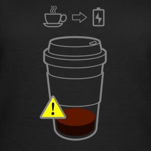 Warning low coffee - Dame-T-shirt