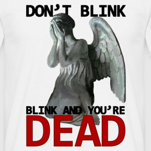 Doctor Who Don't blink Weeping angel statue - Herre-T-shirt