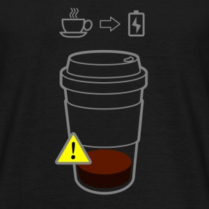 Warning Coffee Low - Männer T-Shirt