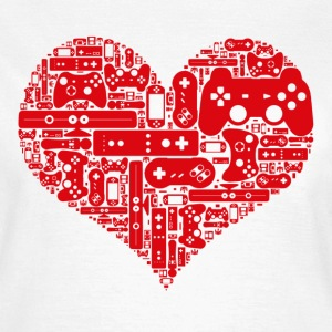 Gamer heart Love video games - Dame-T-shirt