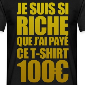 wealthy, Riche - Männer T-Shirt