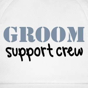 White/white Groom Support Crew Caps & Hats - Baseball Cap