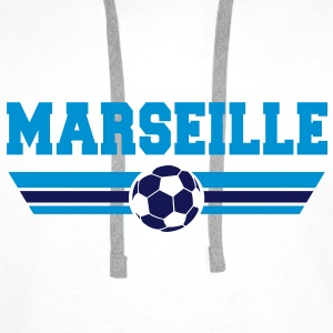 Marseille foot 2013 Sweat-shirts - Sweat-shirt à capuche Premium pour hommes