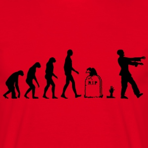 Evolution Zombie - Halloween Tee shirts - T-shirt Homme