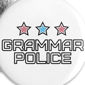 Grammar Police Buttons - Buttons small 25 mm
