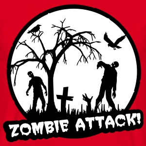 Zombie Attack - Halloween T-skjorter - T-skjorte for menn