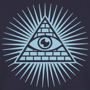 all seeing eye -  eye of god / pyramid - symbol of Omniscience & Supreme Being Sweat-shirts - Sweat-shirt Homme
