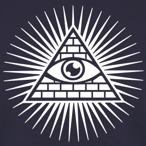 all seeing eye -  eye of god / pyramid - symbol of Omniscience & Supreme Being Sweaters - Mannen sweater