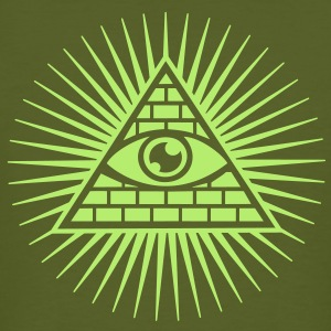 all seeing eye -  eye of god / pyramid - symbol of Omniscience & Supreme Being T-skjorter - Økologisk T-skjorte for menn