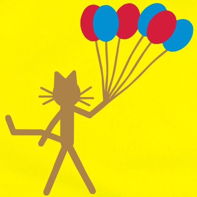 Warnweste Katze Kittycat Luftballons